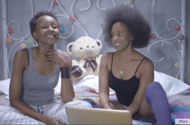 A screen shot taken from the video podcast of 'The Spread' in Nairobi, Kenya.