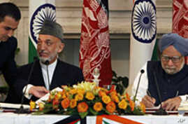 Afghanistan, India Sign Strategic Partnership Pact