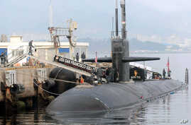 The USS San Francisco, a U.S. nuclear-powered submarine, is docked before South Korea and U.S. joint military exercises, at Jinhae naval base, South Korea, February 1, 2013.