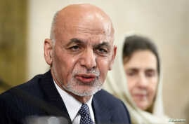 Afghan President Ashraf Ghani speaks during a U.N. conference on Afghanistan, Nov. 28, 2018, at U.N. offices in Geneva, Switzerland.