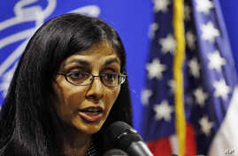 US Assistant Secretary of State for South and Central Asian Affairs Nisha Biswal speaks during a media briefing in Colombo, Sri Lanka, Feb. 1, 2014.