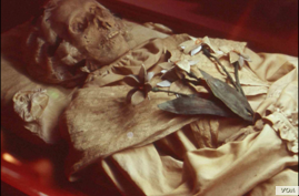 Mummified remains of Terézia Hausmann. (Hungarian Natural