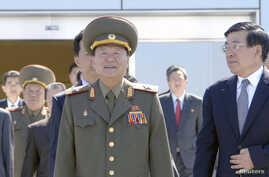 FILE - Choe Ryong Hae (C), director of the General Political Bureau of the Korean People's Army (KPA) of North Korea.