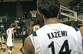 Arsalan Kazemi averages nearly 16 points and more than 10 rebounds per game with Rice University.