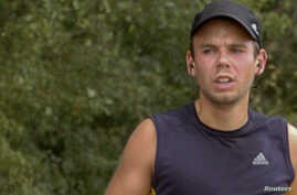 FILE - Andreas Lubitz runs the Airportrace half marathon in Hamburg in this Sept. 13, 2009 file photo.