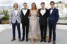 """71st Cannes Film Festival - Photocall for the film """"The Harvesters"""" (Die Stropers) in competition for the category Un Certain Regard- Cannes, France, May 15, 2018."""
