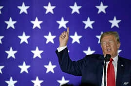 President Donald Trump speaks at a fundraiser in Fargo, N.D., Sept. 7, 2018.