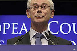 European Council President Herman van Rompuy speaks during a final media conference at an EU summit in Brussels, Dec 17, 2010 (File Photo)