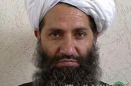 FILE -An undated photo in an unknown location shows the new leader of the Afghanistan Taliban Maulvi Hibatullah Akhunzadah posing for a portrait.