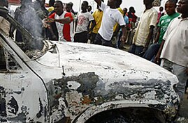 3 UN Vehicles Burned in Ivory Coast