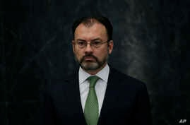 Mexico's new Foreign Relations Secretary Luis Videgaray attends a press conference at the Los Pinos presidential residence in Mexico City, Jan. 4, 2017.