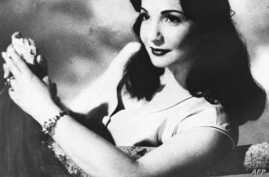Picture from the 1950s shows popular Egyptian singer and actress Shadia, who after starring in 110 films and several musical plays since her debut in 1947, took the veil and gave up both singing and acting in the mid 1980s. Since then, Shadia, born i