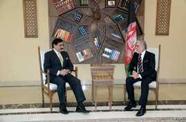 Afghanistan's Chief Executive Abdullah Abdullah hosted Pakistan's National Security Adviser Nasser Janjua in Kabul, March 17, 2018.
