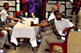 """Shakespeare Behind Bars' inmate ensemble cast performs """"Macbeth"""" in 2009."""