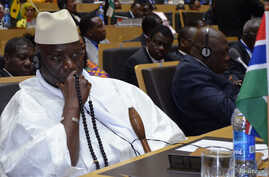 Gambia's President Yahya Jammeh attends the leaders meeting at the African Union in Addis Ababa, Ethiopia, July 15, 2012.
