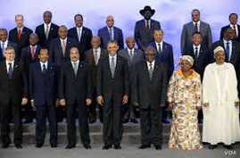 President Obama with African Leaders