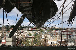 A view shows the aftermath of a tornado that ripped through a neighborhood in Havana, Cuba Jan. 28, 2019.