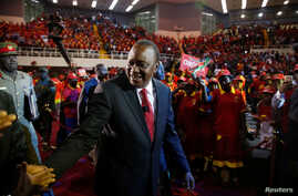 Kenya's President Uhuru Kenyatta arrives to the an event unveiling the Jubilee Party's manifesto in Nairobi, Kenya June 26, 2017.
