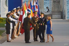 Chairman of the Joint Chiefs of Staff Martin Dempsey meets in Istanbul's Dolmabahce Palace with defense chiefs from NATO states.
