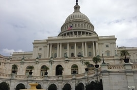 The the exterior of U.S. Capitol building is seen in Washington, D.C. October 16, 2013. (Sandra Lemaire/VOA)