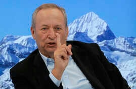U.S. economist Larry Summers speaks during a panel on the second day of the annual meeting of the World Economic Forum in Davos, Switzerland, Jan. 18, 2017.