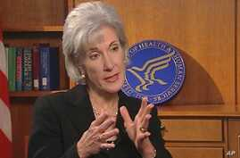US Health and Human Services Secretary Kathleen Sebelius talks with VOA's Melinda Smith about US medical aid operations in Haiti, 22 Jan 2010
