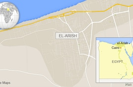 Map of el-Arish, Sinai Peninsula