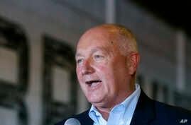 """FILE - Pete Hoekstra, pictured in March 2016 in Lansing, Mich., when he was a Republican congressman from that state, has apologized for remarks he made in 2015 that Muslims were responsible for creating """"chaos"""" in the Netherlands. Hoekstra will beco"""