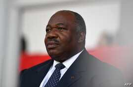 FILE - Gabonese President Ali Bongo attends the closing ceremony of the 2017 Africa Cup of Nations football tournament in Libreville, Feb. 5, 2017.