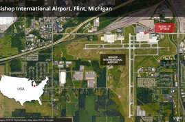 Bishop International Airport map