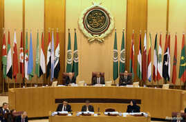 Arab League Secretary-General Ahmed Aboul Gheit speaks during Arab League foreign ministers emergency meeting on Trump's decision to recognise Jerusalem as the capital of Israel, in Cairo, Dec. 9, 2017.