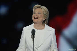 Democratic U.S. presidential nominee Hillary Clinton accepts the nomination on the fourth and final night at the Democratic National Convention in Philadelphia, Pennsylvania, July 28, 2016.