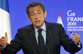 Sarkozy: Critical That G8 Support Arab 'Spring'