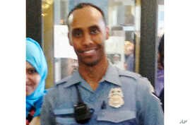 In this May 2016 image provided by the City of Minneapolis, police officer Mohamed Noor poses for a photo at a community event welcoming him to the Minneapolis police force.