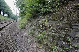 The potential site, where a Nazi gold train is believed to have been hidden, is seen near the city of Walbrzych, Poland, Aug. 28, 2015.