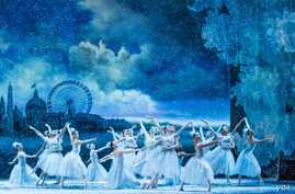 The Waltz of the Snowflakes, which ends Act I, features what looks like snow falling on the dancers.