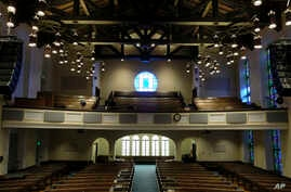 This Feb. 12, 2019 photo shows the sanctuary at the Glide Memorial United Methodist Church in San Francisco. On Feb. 24, 2019, the United Methodist Church officially opens its top legislative assembly for a high-stakes three-day meeting.