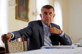 FILE - Czech Prime Minister Andrej Babis attends an interview with Reuters at the Hrzan's Palace in Prague, Czech Republic, July 31, 2018.