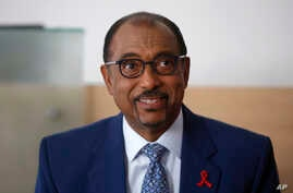 Embattled UNAIDS chief Michel Sidibe attends a press conference, in Paris, France, July 18, 2018.