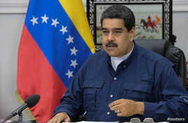 Venezuela's President Nicolas Maduro speaks during a Council of Ministers meeting at Miraflores Palace in Caracas, Venezuela, May 16, 2017.