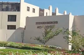 FILE - This Aug. 24, 2018, file photo taken from video shows the exterior of the Steigenberger Aqua Magic Hotel in Hurghada, Egypt. Egypt's chief prosecutor said Sept. 12, 2018, that tests showed that E.coli bacteria were behind the deaths of two Bri
