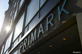 FILE - A Primark clothing store is seen in central London.