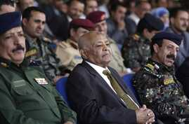 Prime Minister Mohammed Basindwa attends ceremony at Central Security Forces, Sanaa, Yemen, July 1, 2012 file photo.