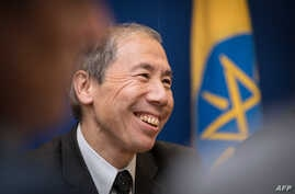 Donald Yamamoto, the new U.S. ambassador to Somalia, speaks during a press conference at the U.S. Embassy in Addis Ababa, Dec. 8, 2017. Yamamoto has 20 years of experience in Somalia and the East Africa region.