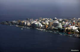 An aerial view shows the Maldives capital Male, Dec. 7, 2009.