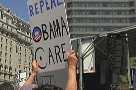 Protesters rally against new US health care legislation