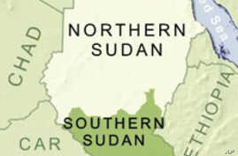 Map of Southern Sudan, Sudan