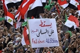 Egyptians Rally Demanding Military Cede Power