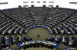 Members of the European Parliament take part in a voting session on a resolution about Brexit priorities and the upcoming talks on the UK's withdrawal from the EU at the European Parliament in Strasbourg, France, April 5, 2017.