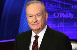 """FILE - Bill O'Reilly, formerly of the Fox News Channel program """"The O'Reilly Factor,"""" poses for photos in New York, Oct. 1, 2015."""